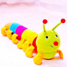 1 x 50 cm Popular Colorful Inchworm Soft Lovely Developmental Toys for Caterpillar juguetes hold pillow Toys Hot Sales(China (Mainland))