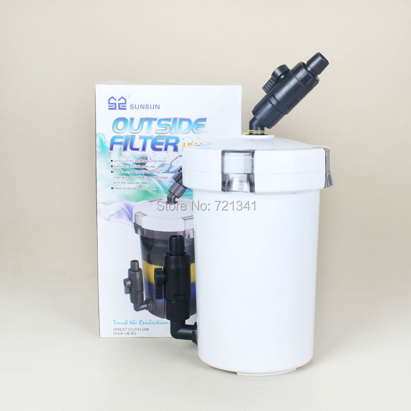 2l pre filter aquarium outside filter canister external for Outdoor fish tank filter