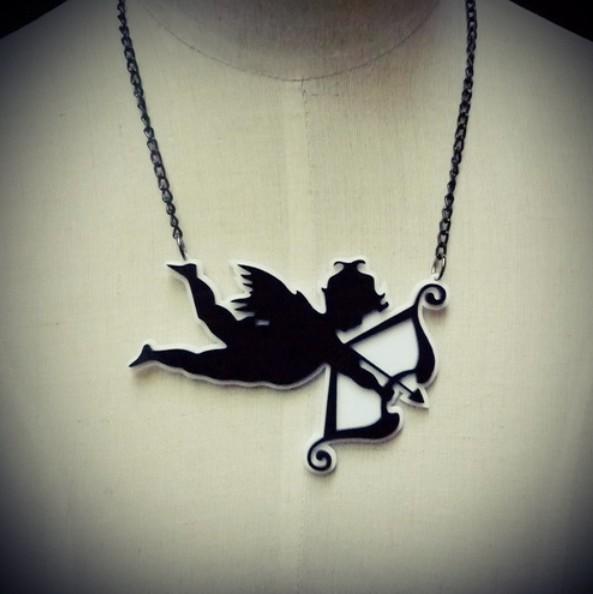 Laser Cut Fashion Cupid Arrow Acrylic Necklace Pendant    24pieces /lot<br><br>Aliexpress
