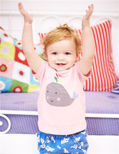 48 Summer baby Boys Girls T Shirts Mini Rodini style Print Tee top Kids pink dolphin animal casual cartoon animal cute fashion(China (Mainland))