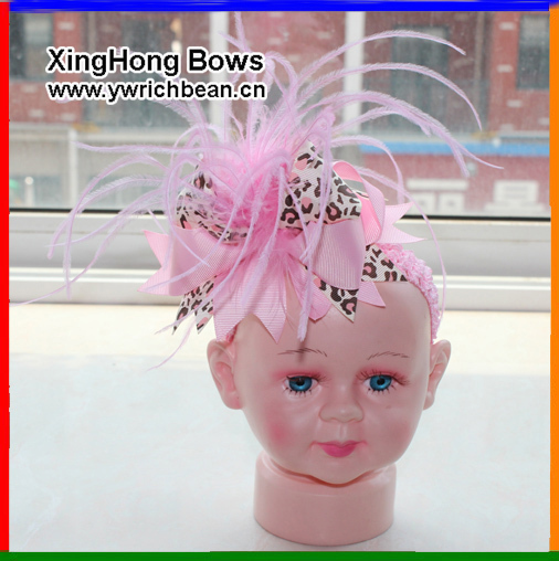 10 pcs/lot Baby girls' Hair bows with hair band infant hair clips bow and headband baby hairbows new topknot