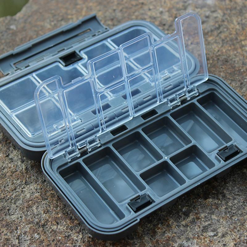 16.5*8.5*5cm Fishing Box Transparent Visible Plastic Fishing Hook Set Box 17 Compartments Spinner Bait Storage Case(China (Mainland))