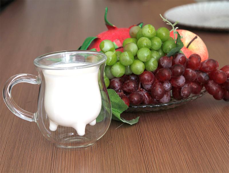 double wall glass milk glass 3