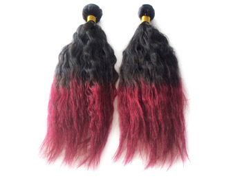 Top Quality 18-32 inch Brazilian Ombre Hair Extension #1b/bug 100g Natural Wave Free Shipping