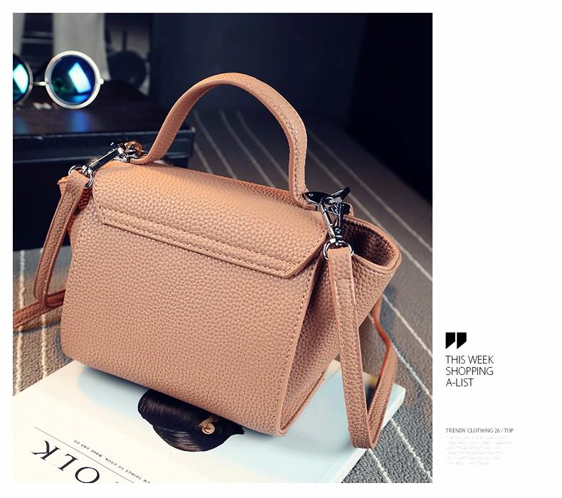 High Quality Fashion Bag Feminine Litchi Stira Leather Handbag 2016 New Designer PU Shoulder Bag Women Chic Patchwork Flap Bag