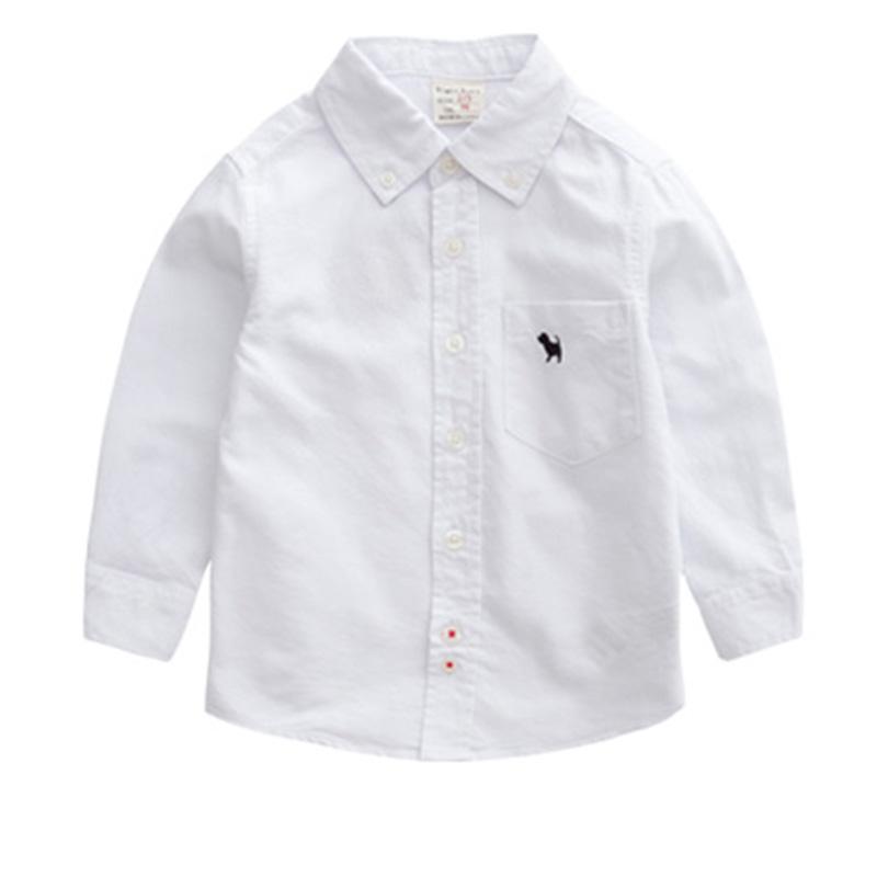 Boys 100 cotton long sleeve shirt 2016 spring and autumn for 100 cotton dress shirt