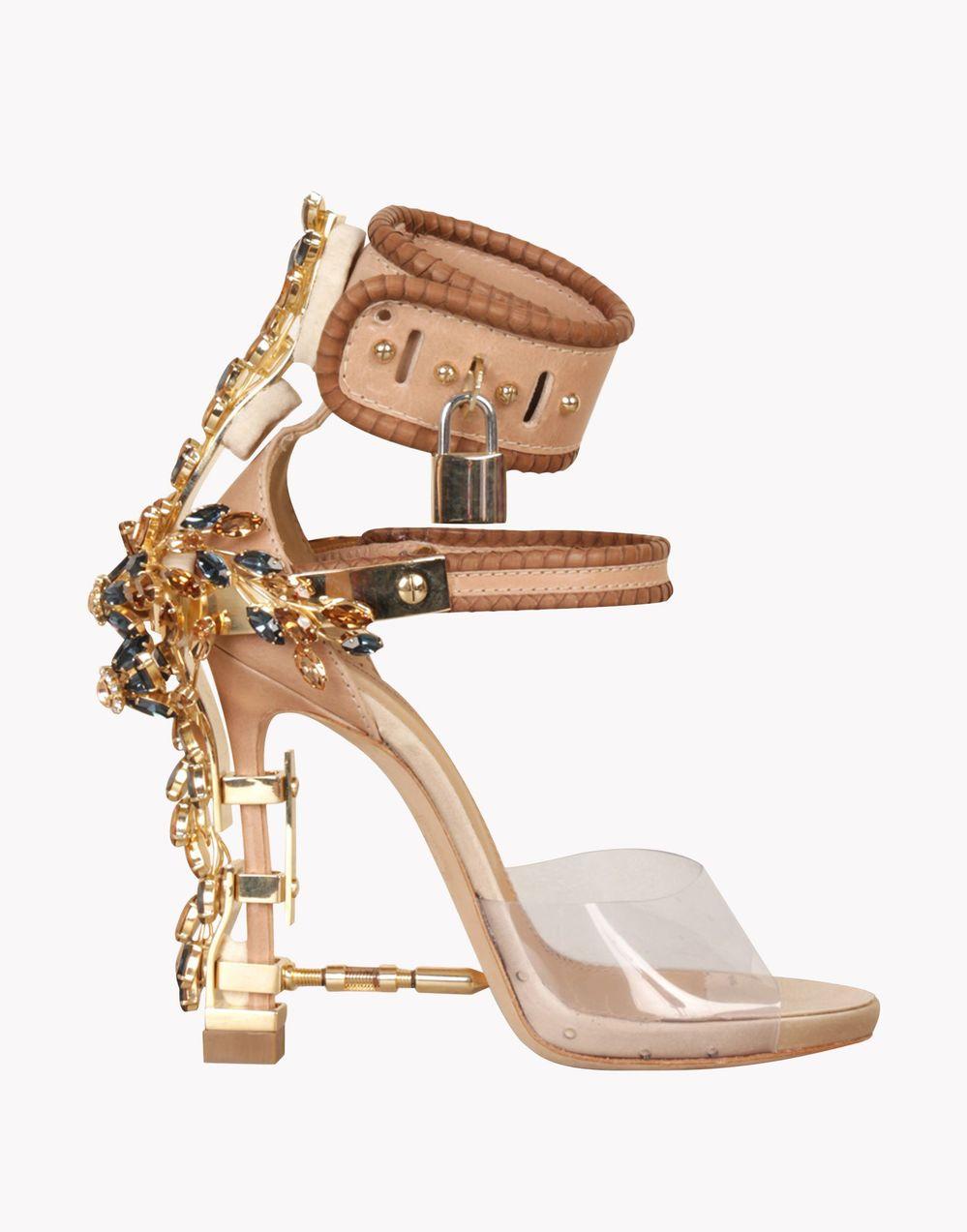 Luxury Jewel Embellished High Heel Sandal Ankle Strappy Locked Up