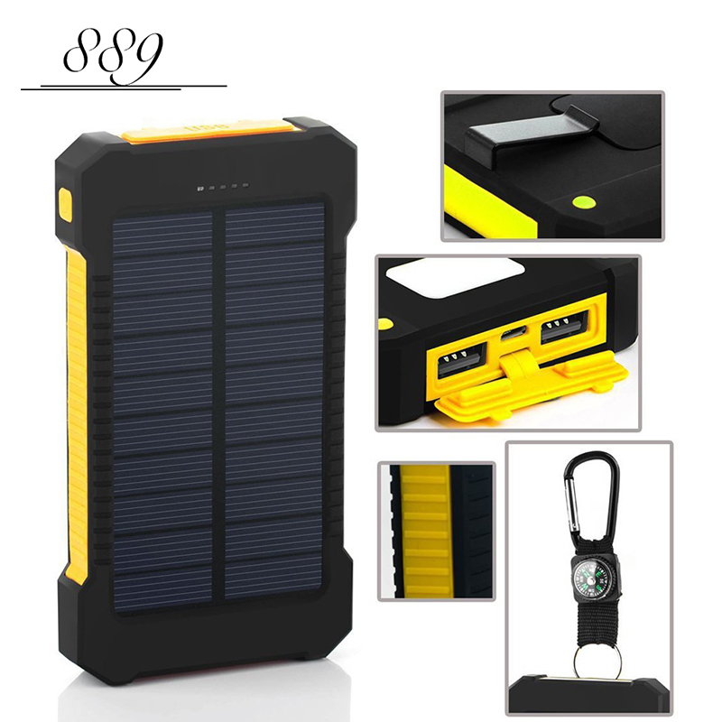 For Samsung power bank 20000 mah Portable Solar Power Bank 20000mAh External Battery DUAL Ports powerbank Charger Mobile Charger(China (Mainland))