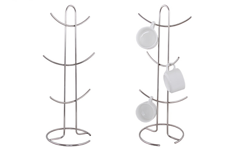 Stainless steel metal Cup display rack creative store cup potting plant holder showing desktop stand cup holder rack(China (Mainland))