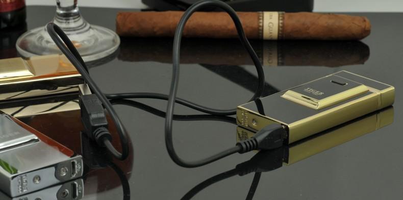 ถูก เสือเบา900 windproofโลหะบางเฉียบชีพจรชาร์จusbบุหรี่อิเล็กทรอนิกส์เบาเบาจัดส่งฟรี