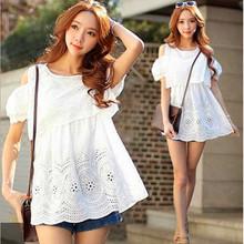2016 Korea New maternity dress lace openwork coat Strapless loose maternity women sweet(China (Mainland))