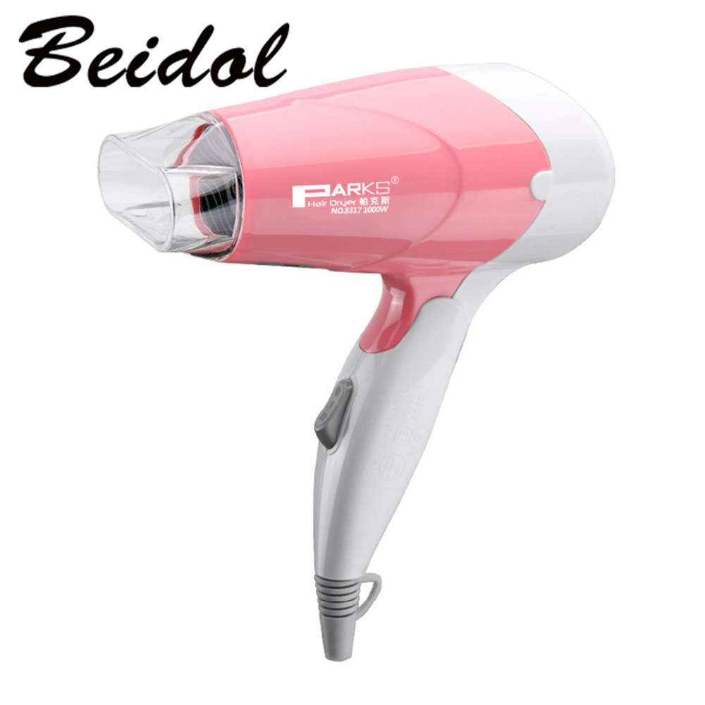 Hot Sales Mini Foldable Handle Design Portable Thermostatic Air collecting Traveller Compact Blower Electric Hair Dryer hot&cool(China (Mainland))