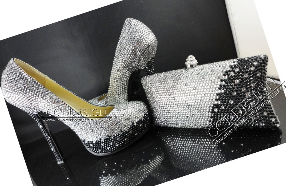 Grey Wedding Shoes And Matching Bag