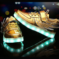 Children Casual Shoes With Lights For Kids USB Chargeing Led Light Up Sneakers With Wings Luminous