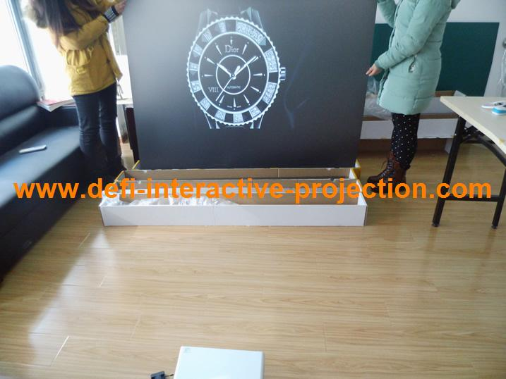 ON SALE! Rear projection screen/foil/film for 3D holo display, shop windows, glasses, Christmas advertising(China (Mainland))