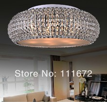 hot sale  surface mounted living room crystal  ceiling light , modern lighting sale (China (Mainland))