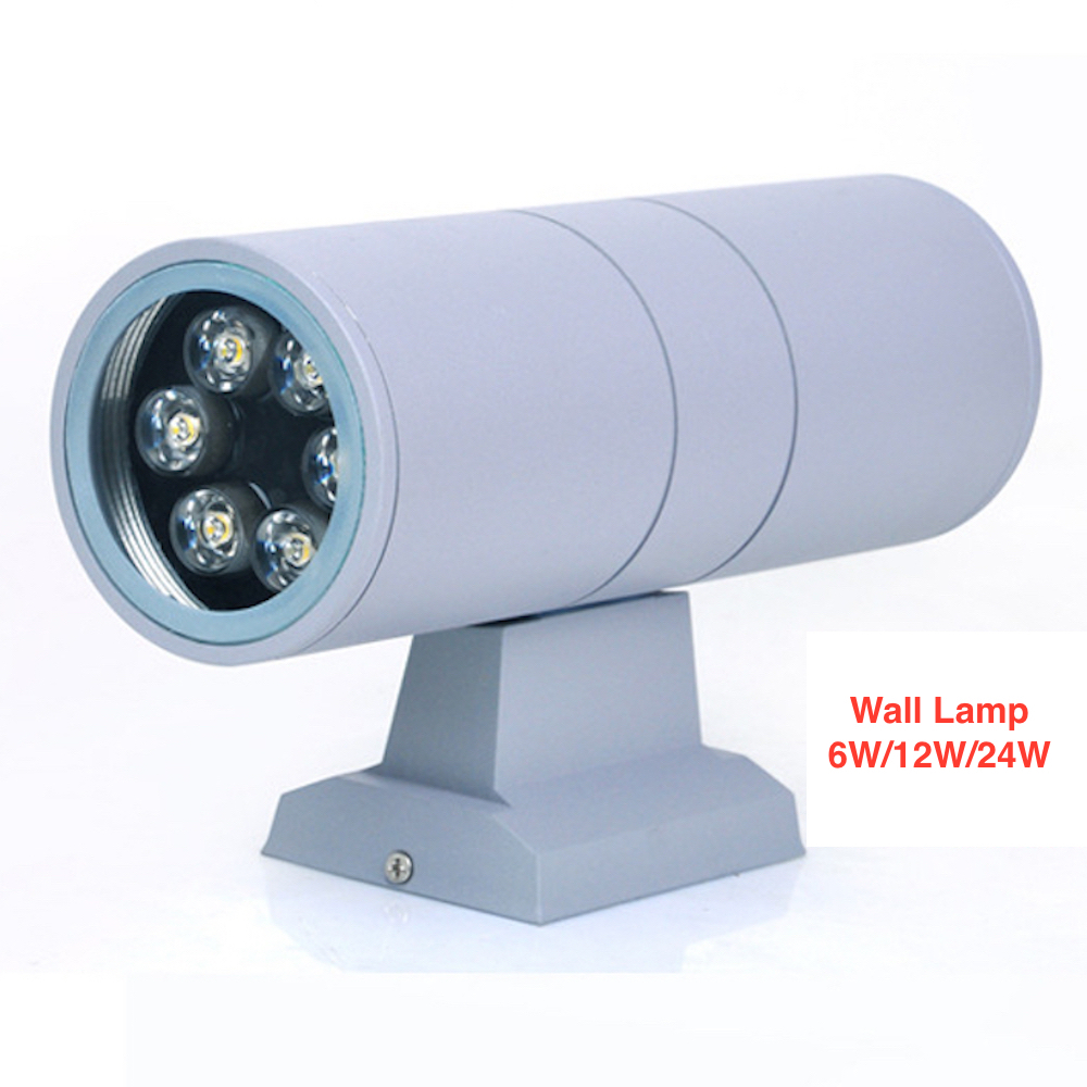 Two heads 6W LED Wall Lamp colorful outdoor lighting waterproof AC85-265V optional color building wall lighting(China (Mainland))