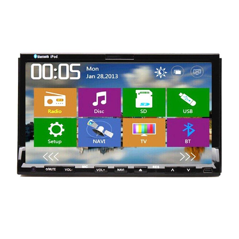 "GPS Navigation 7"" Car PC Double Din Car Radio 2 Din Car Stereo Car DVD/CD/Video Player With Bluetooth USD/SD Headunit(China (Mainland))"