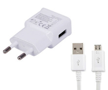 2A EU USB Travel Portable Cell Phone Charger Adapter+USB Data Cable Lenovo Vibe Z3 Pro,S650 A859 P90 A6000 A7000 A5000 - OEMCity Lyn store
