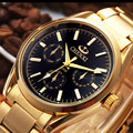 2016 New Arrival Brand Chenxi Gold Golden Full Steel Watch For Men Hot Fashion Quartz Men
