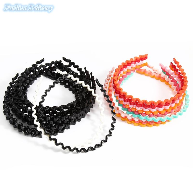 12pcs/lot Black Headband Wavy Pattern Hair Band Korea Style Hair Hoop Fashion Styling Tools Girls Hair Accessories Free Shipping(China (Mainland))