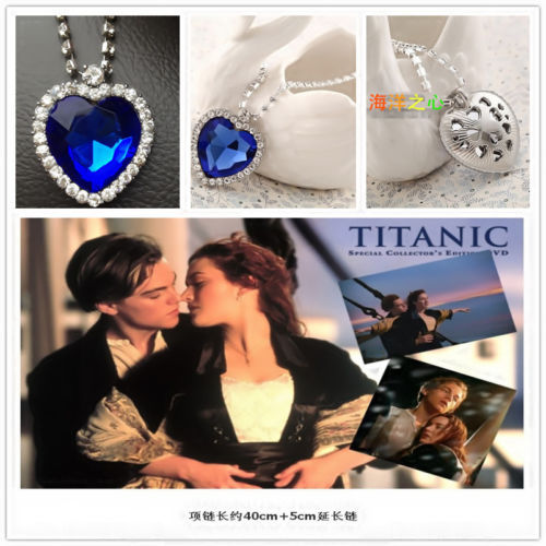 Titanic heart of the ocean necklace Crystal silver-plated pendant Necklaces & Pendants necklaces women's Valentine's Day gift(China (Mainland))