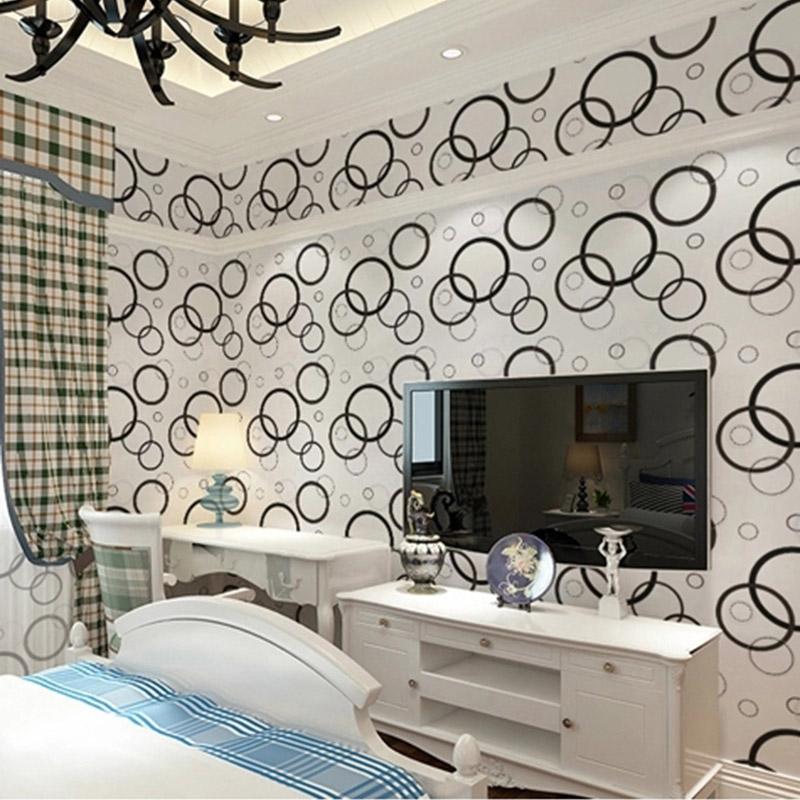 PVC waterproof Wallpaper Europe style Floral print Circles Decorative pattern 45cm-width Simple Self-Adhesive Wallpaper(China (Mainland))