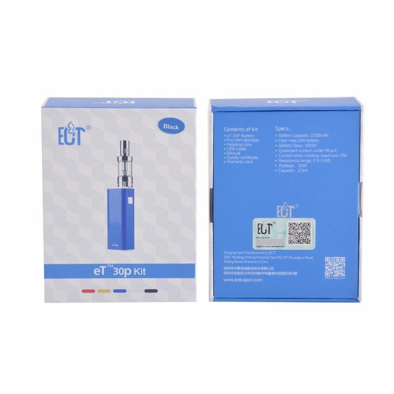ถูก ET30pบุหรี่อิเล็กทรอนิกส์Vaporizer 30วัตต์กล่องสมัยECT ET30P-Miniหมอก2200มิลลิแอมป์ชั่วโมงแบตเตอรี่กับการควบคุมการไหลเวียนของอากาศหมอกมินิเครื่องฉีดน้ำชุด