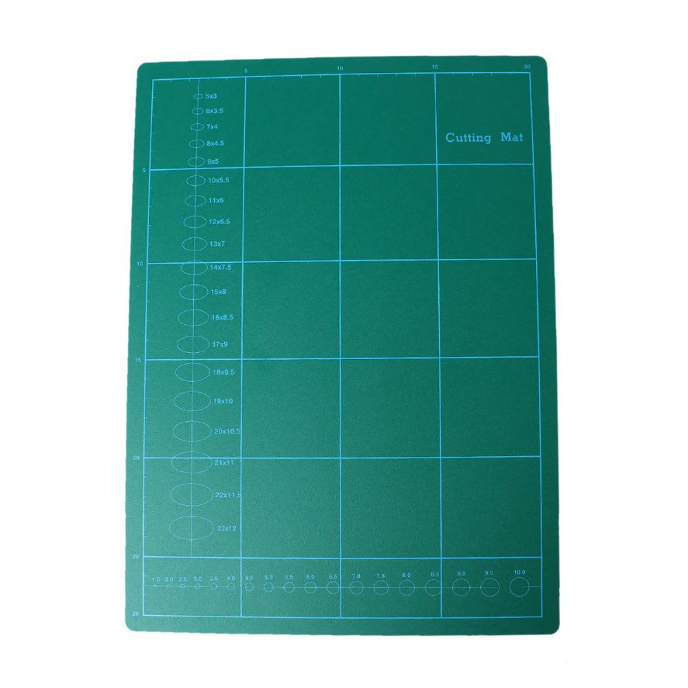 "PVC Rectangle Self Healing Cutting Mat Tool 3 Layer A4 Craft Dark green 30cm x22cm(11 6/8"" x8 5/8"") , 1 Sheet(China (Mainland))"