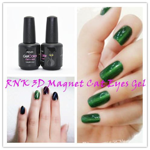 Choose 12 Colors RNK Long Lasting Gel Varnish Super Pretty Colors Cat Eyes Magnetic Nail Uv Gel(China (Mainland))