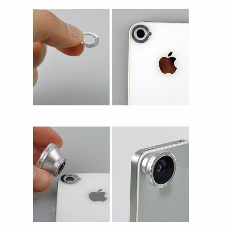 4in1 Phone Camera Lentes Magnetic 180 Degree Fisheye Lens 0.67x Wide Angle Macro 2x Telephoto Lenses For Xiaomi Meizu Samsung S6