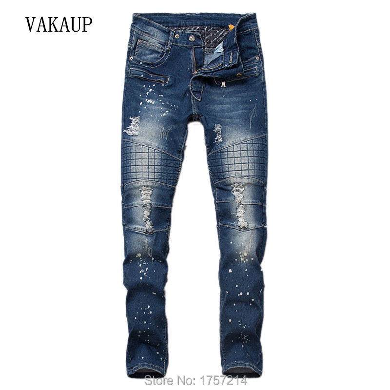 Men's Distressed Jeans For Men Hommes Men Pencil Pants robin Jean Mens Denim Pant Male Brand Clothing Jeans Homme Free Shipping(China (Mainland))