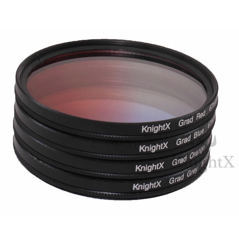 49 52 55 58 67 77 Graduated Color ND Lens Filter Kit set for Canon EOS