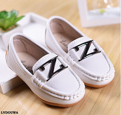 Spring Autumn Children Soft Leather Shoes Princess Flats Round Toe Moccasins Boys Girls Shoes Casual Baby Loafers Shoes 2A(China (Mainland))