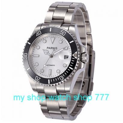 Высокое качество ПАРНИС 40 мм Азии автоматика движение мужские часы Керамический ободок Сапфировое зеркало 2016 новая мода 000276 г
