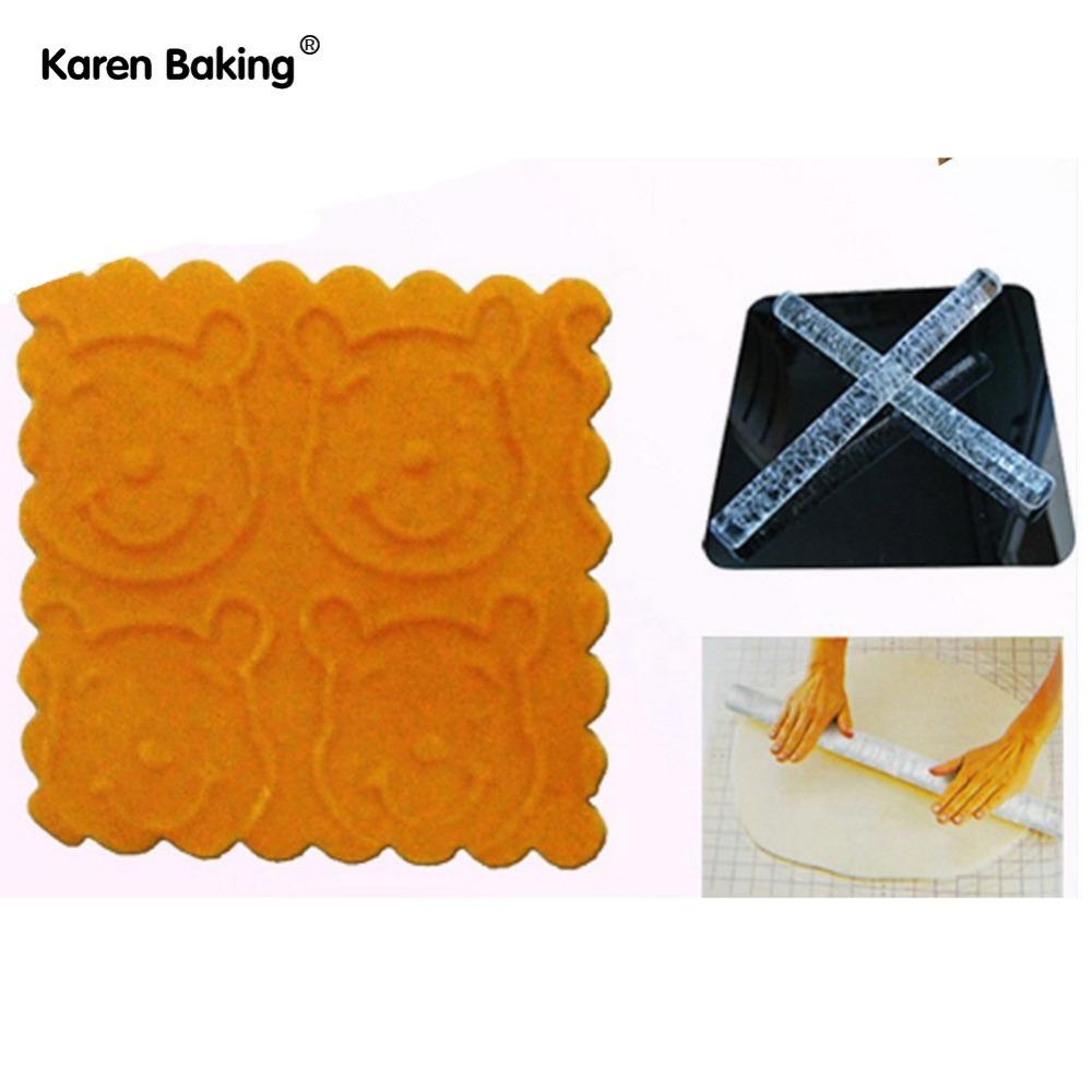Bear Face Shape Transparent Embossing Rolling Pins Sugar Craft Tools Fondant Cake Decoration--A194(China (Mainland))