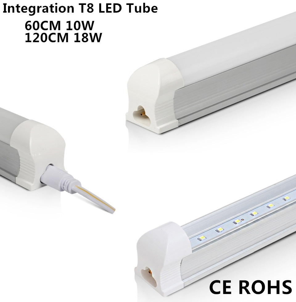 Super Brightness 2ft 0 6m 60cm 600mm 9W Integration T8 Led Tubes Light Warm Cool White