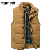 2016 Men Winter Vest Classical Solid Gilet Cotton High Quality Man Outdoor Jackets Sleeveless Slim Fit  MWB159(China (Mainland))