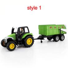 Фермы модели автомобиля игрушки трактор фруктовые и овощные корзины самосвалы древесины грузовик бортовой грузовик топливный бак автомобиля