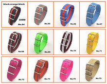Hot Wholesale 10pcs lot High quality 20MM Nylon Watch band NATO waterproof watch strap fashion wach
