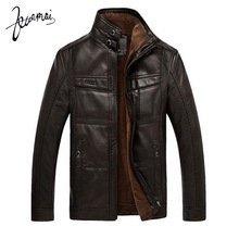 BN9 PU Leather Jacket Men Fashion Brand High Quality Velvet Warm Winter Motorcycle Business Casual Mens Leather Jackets Coats(China (Mainland))