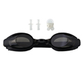 Black Protect Nose Clip Ear Plug Anti fog UV Swimming Goggle Adjustable Diving Glasses