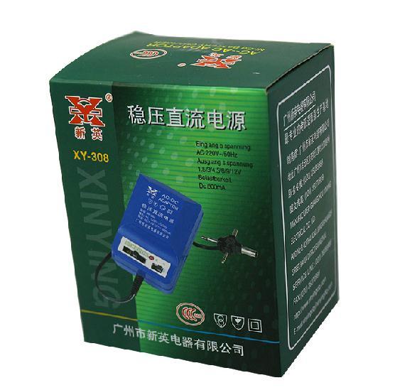 Free shipping DC electrical source adjustablility commutator 3V/4.5V/6V/7.5V/9V/12V 500mA input 220V AC four output power source(China (Mainland))