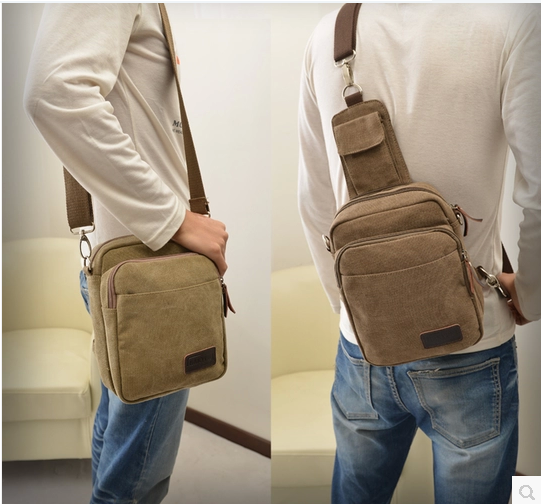 New arrival male sports type multifunctional outdoor canvas bag man bag one shoulder cross-body bag small(China (Mainland))