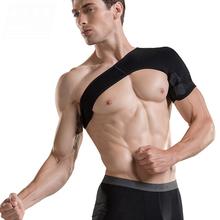 Adjustable Gym Sports Single Shoulder Brace Support Strap Wrap Belt Band Pad for Men Women Protection of Badminton Basketball(China (Mainland))