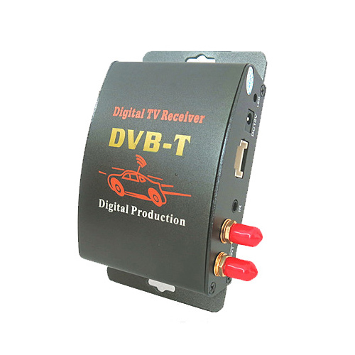 Car Digital TV Box DVB-T Dual Tuner MPEG2 and MPEG4 AVC/H.264 for English French German Italian Spanish Greek Russian(China (Mainland))