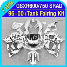 +Tank For SUZUKI GSXR600  96 97 98 99 00 Black silver GSXR 600 3T169 1996 1997 1998 1999 2000 GSX-R600  Fairing Black flames(China (Mainland))