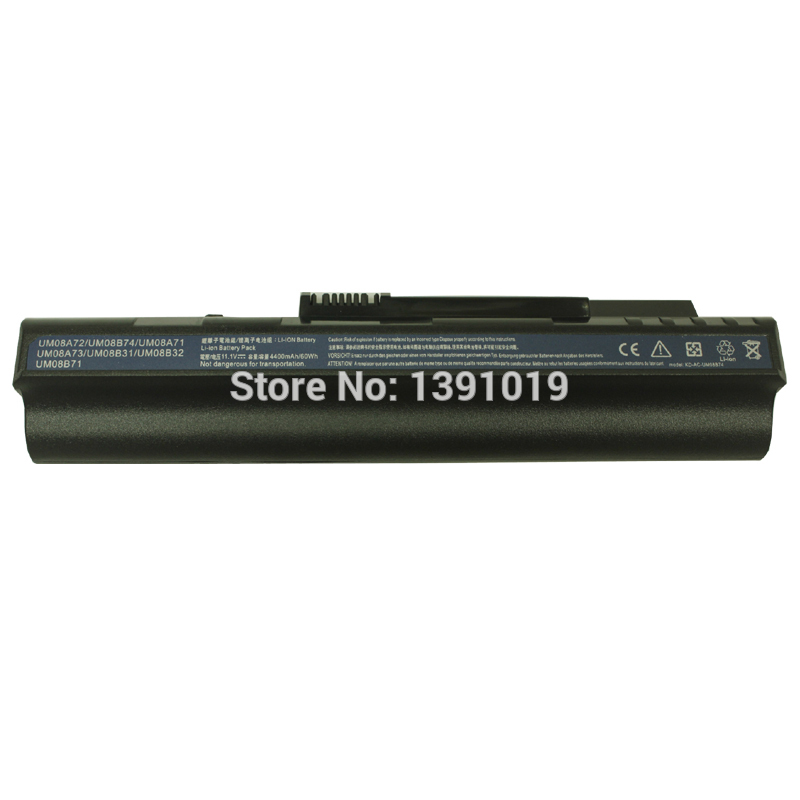 New Laptop Li-Ion Battery For Acer UM08B73 UM08B74 UM08B52 Rechargeable Battery 4400mAh 11.1V 6 Cell<br><br>Aliexpress