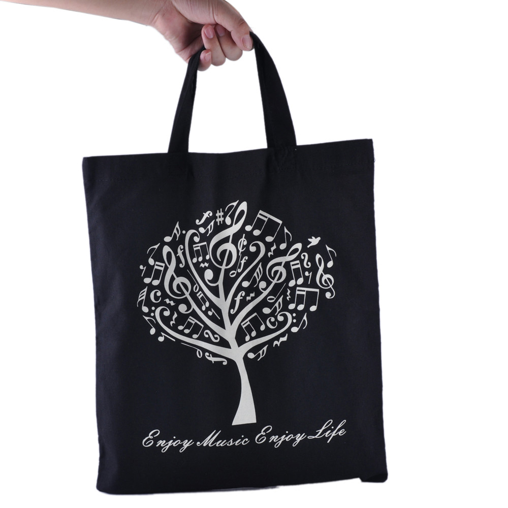 Women Simple Handbag Printing Cotton Shoulder Bag Large Capacity Shopping Bag Casual Tote Schouder Tassen Dames #7018