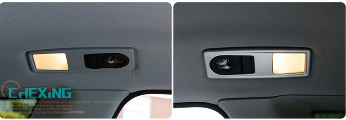 stainless Steel rear Roof map reading light frame Cover lamp decors1pcs For BMW x4 2014 2015 /X3 2011 2012 2013 2014 2015(China (Mainland))